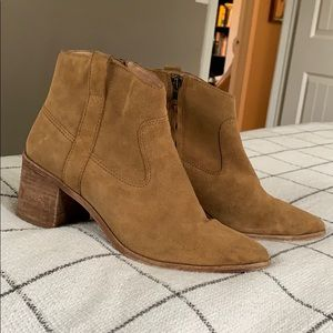 Madewell brown suede ankle boots - 9.5